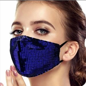 Accessories - Any 2 $30 Blue Sparkle Sequin Face mask
